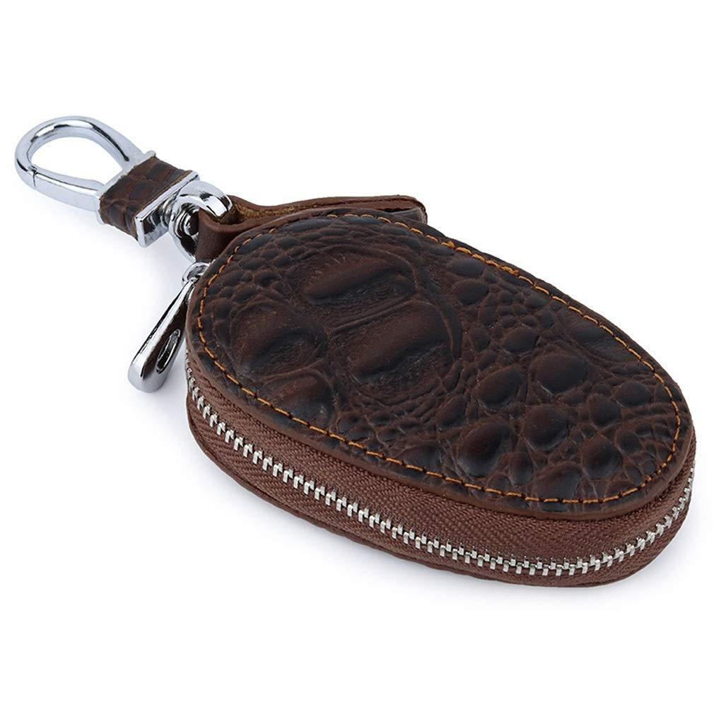 hsy Estuche para Llaves, Bolsa para Llaves con Cremallera/Bolsa para Porta Llaves de Cuero con 1 Ganchos Puede usarse como Monedero Monedero Paquete de Tarjetas Regalos (Color : Brown): Amazon.es: Hogar