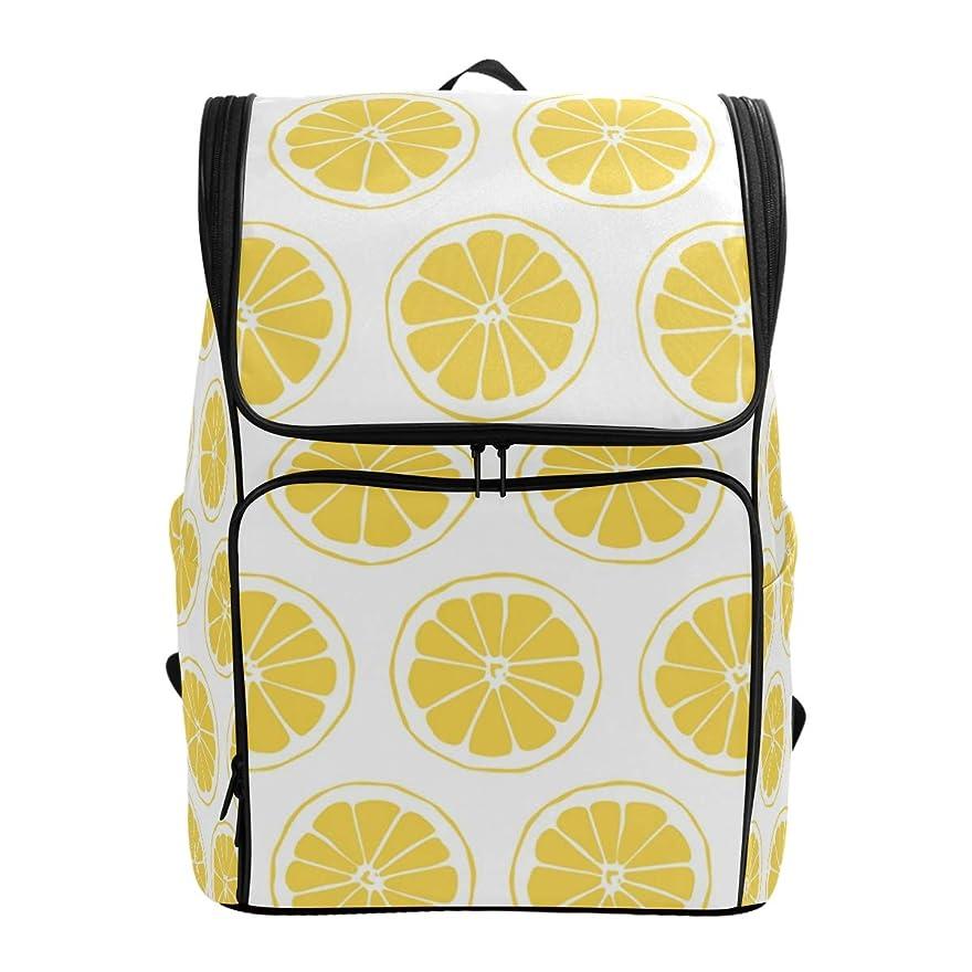 スロベニア憂慮すべき導入するマキク(MAKIKU) リュック 大容量 レディーズ リュックサック レモン柄 果物 軽量 メンズ 登山 通学 通勤 旅行 プレゼント対応
