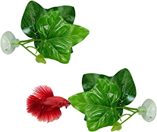 Nrpfell 2-pack Betta fiskbladsdyna - förbättrar Bettas hälsa genom att simulera den naturliga livsmiljön (dubbelbladsdesig...