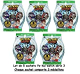 Di channeltoys - Yo-kai Watch - 5 blind bag yokai medals series 3 - 18 medals random