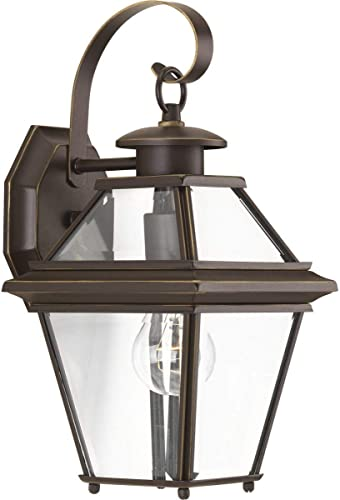 high quality Progress sale Lighting P6615-20 Burlington One-Light Small high quality Wall Lantern, Oil Rubbed Bronze sale