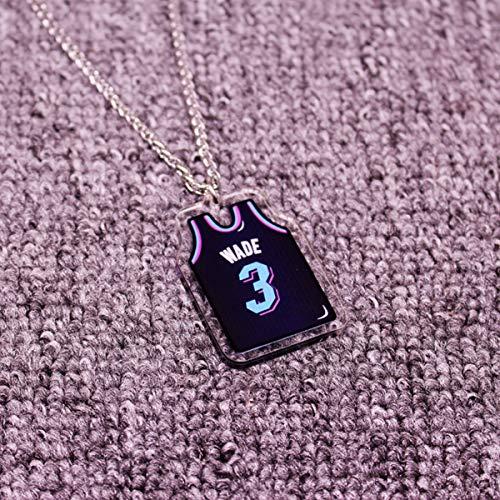 ANLW NBA All-Star Kobe Collar/Jordan // Antetokounmpo Colgante de acrílico sólido Cabeza Colgante de Hip Hop, Aficionados de la NBA de Baloncesto,Wade