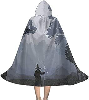 Pixel Wizard WalkForest Halloween Christmas Kid Cosplay Hooded Robe Cape Cloak Hoodie Devil Vampire Wizard