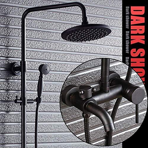 WEI-LUONG Baño Set de Ducha Europea Retro Negro Negro Bronce Baño Spray Conjunto de Ducha Ducha Grifo de la Ducha de Suministro de Agua Ducha Sistema