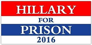 StickerPirate Car Magnet Hillary for Prison 2016 TRM 135