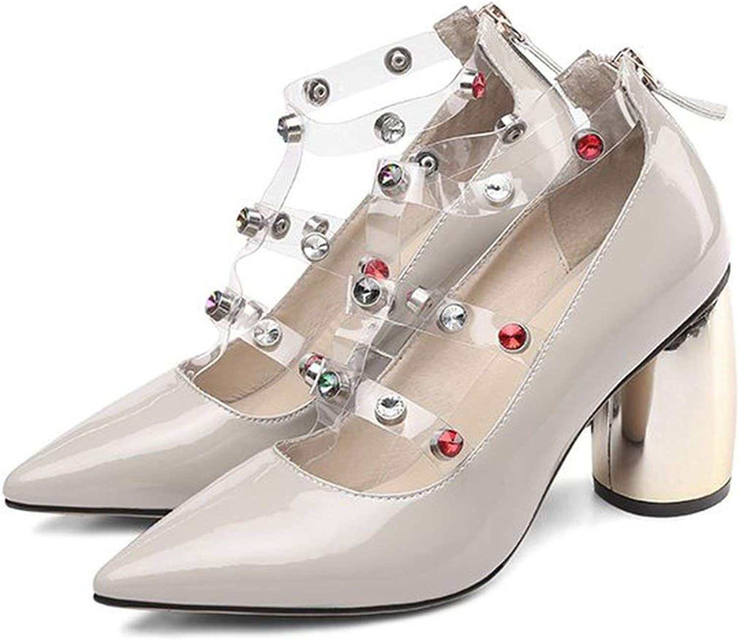 Rivets Leather Sexy High Heels Party Women shoes Women High Heel shoes Women Heels