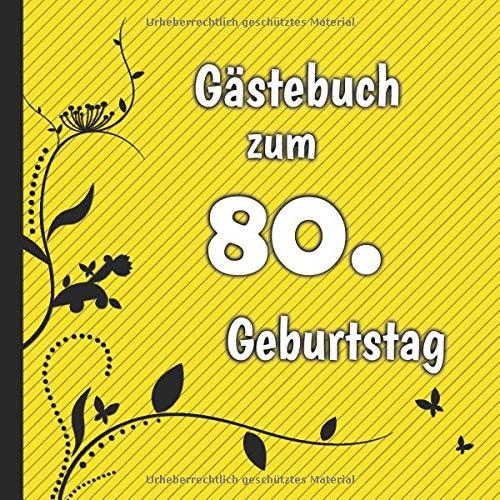 Gästebuch zum 80. Geburtstag: Gästebuch in Rot Blau und Weiß für bis zu 50 Gäste | Zum...