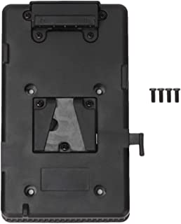 【𝐒𝐩𝐫𝐢𝐧𝐠 𝐒𝐚𝐥𝐞 𝐆𝐢𝐟𝐭】Vマウントバッテリープレート、14.1 * 9.2 * 2cmプラスチック+金属カメラバッテリーパネル、ソニー用BPバッテリープレートVマウントバッテリーバッテリーアダプタープレー...