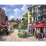 Pintura por números para adultos niños DIY pintura al óleo pintada a mano paisaje de la ciudad pintura decoración del hogar A18 45x60cm