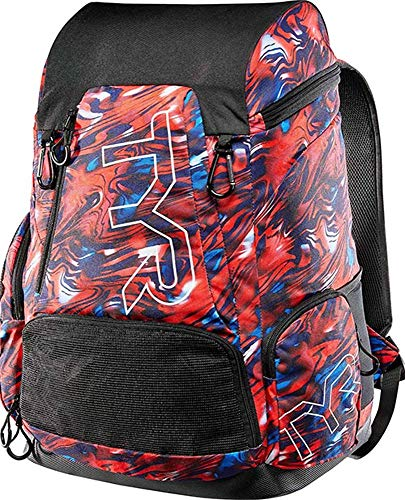 TYR Alliance 45 Litre-All American Print, Swimming Unisex - Adult, Red/White/Blue, One Sizeca, LATBPAMR