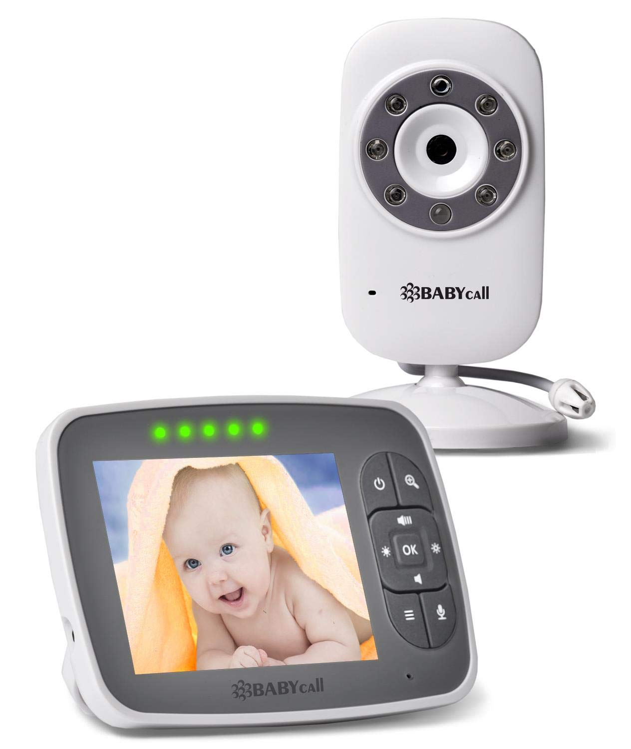 Video Baby Monitor with Camera - Baby Camera Wireless Baby Monitor with Night Vision, Two Way Audio, Temperature Sensor, Lullabies and High Capacity Battery