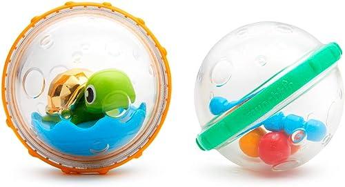 Munchkin juguete de baño flota y juega con burbujas, pack de 2, modelo surtido