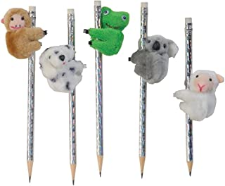Raymond Geddes 67582 Clip-On Critter Plush Animal Pencil Toppers (Pack of 12)