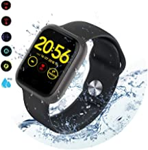"""RELEE Smart Watch IP68 Waterproof Smartwatches Fitness Tracker with Heart Rate Monitor Step Counter Message Reminder 1.3"""" Touch Screen, Sleep Tracker for Android and iOS Phone for Women Men"""