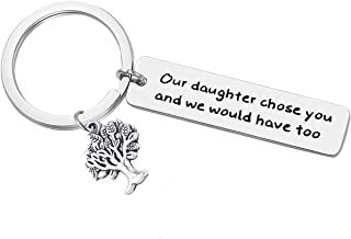 Son-in-Law Keychain Our Daughter Chose You and We Would Have Too Keyring Son in Law Gifts for Anniversary, Wedding or Family Reunion