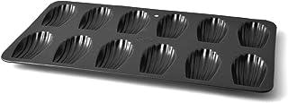 Vespa Madeleine Stampo Antiaderente 12 Posti, Alluminio, Nero, Media