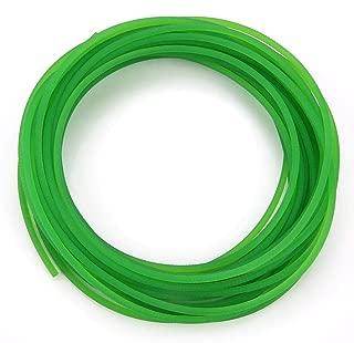 PU Transmission Belt,Walfront High-Performance Urethane Round Belting Green Rough Surface PU Polyurethane Round Belt for Drive Transmission(3mm10m)