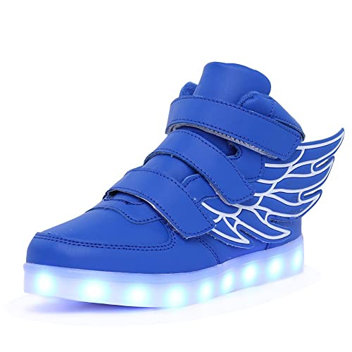 843bff9d17fd CIOR Wings LED Light up Shoes 11 Colors Flashing Rechargeable Sneakers  Ankel Boots for Kids Boys