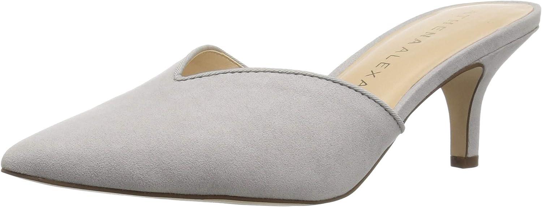 Athena Alexander Women's Jasper Heeled Sandal, Grey Suede, 10 M US