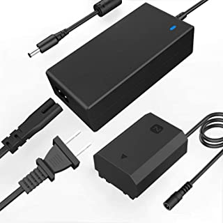 F1TP AC-FZ100 AC電源アダプター充電器+FZ100 DCカプラー(NP-FZ100 バッテリー交換)For Sony Alpha 9, A9, A9 ii, A7C, A9S, A9R, A6600,FX3, A7S iii, A...