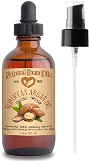 120ml Moroccan Argan Oil, 100% Pure and Natural, Cold-pressed, Organic - Works Magic on Your Skin and Hair - Includes Pump...