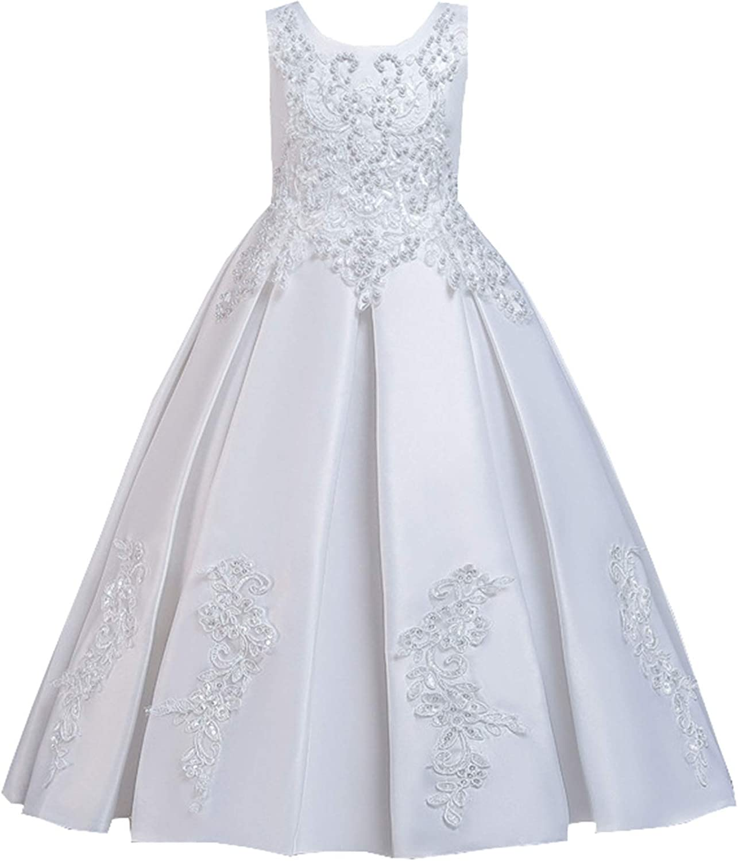 HXCMall Little Big Free shipping Girls Elegant Applique Bir Super Special SALE held Embroidered Flower