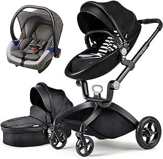 comprar comparacion Cochecito de bebé Hot Mom Stroller and Strollers 3 en 1 con silla y capazo, asiento de automóvil extra asequible 2020 F22 ...