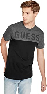 GUESS Factory Men's Rendor Logo Color-Block Crewneck Short Sleeve Tee