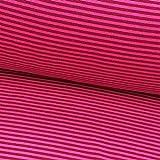 0,5m Bündchen-Schlauch Ringel pink-rot 19 Breite der