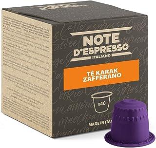 "Note d""Espresso Kapseln für Nespresso Kaffeemaschinen, Karak Chai Safran-Tee, 7 g 40-er Pack"