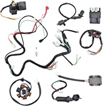 Minireen Complete Wiring Harness kit Electrics Wire Loom Assembly For GY6 4-Stroke Four wheelers Engine Type 125cc 150cc Pit Bike Scooter ATV Quad