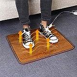 3Sizes Tapis de chauffage électrique avec contrôleur de poche, Bureau Chauffage Pied Mat chaud pour les pieds Stiff, l'arthrite, les pieds froids,M