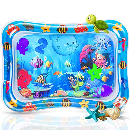 Inflatable Baby Water Play Mat for Infants & Toddlers Fun Tummy Time Play Activity Playmats, Tummy Time Baby Water Play Mat Toys for 3 6 9 Months