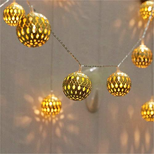 2021 Twinkle 2021 Star wholesale 40 LED Globe String Lights, Halloween Decorations Golden Moroccan Hanging Lights Battery Operated Decor for Indoor, Home, Bedroom, Party, Wedding, Christmas Tree, Warm White online sale