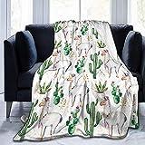 Popcorn In Spring Cactus con Camel Animal Fleece Blanket Throw Light Blanket Super Soft Cosy Bed Manta cálida