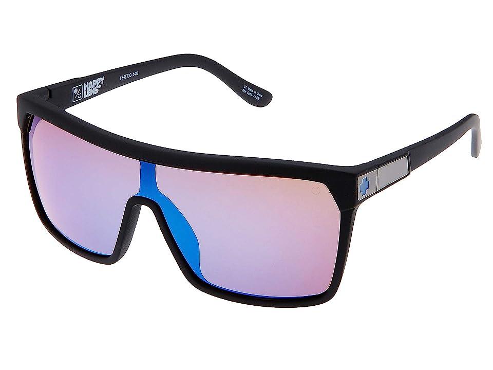 Spy Optic Flynn (Soft Matte Black/Happy Bronze w/ Dark Blue Spectra) Sport Sunglasses