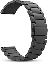 Fintie 22mm Quick Release Bracelet Stainless Steel Metal Strap Wristband Replacement Watch Band - Black
