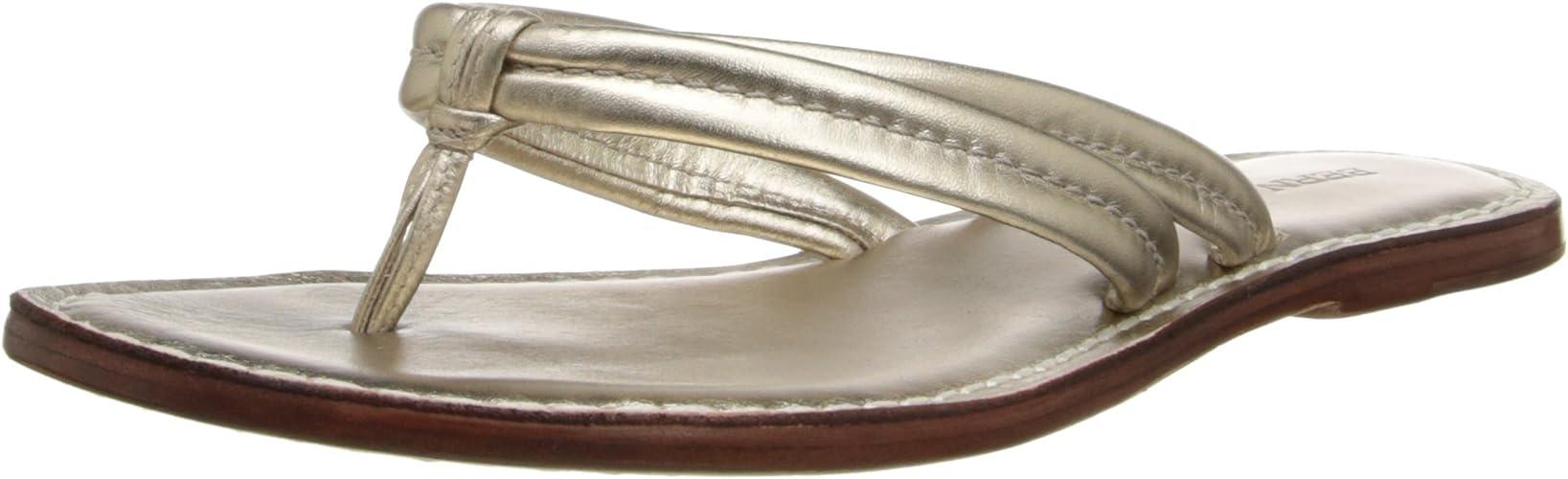 Bernardo Wohommes Miami Dress Sandal, Platinum Calf,8.5 M US