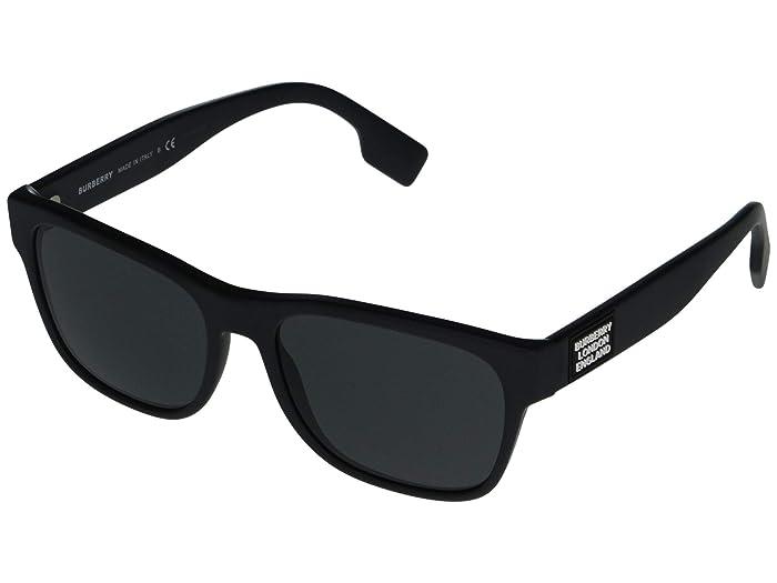 Burberry  0BE4309 (Matte Black/Grey) Fashion Sunglasses