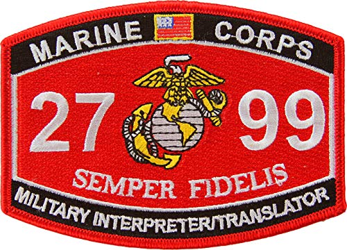 USMC MOS 2799 Miltary Interpreter/Translator Patch Full Color