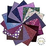 30x Violett Lila Patchwork Squares Charm Pack Bundle