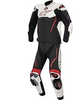 Alpinestars Atem Men's 2-Piece Street Motorcycle Race Suits - Black/White/Red / 54