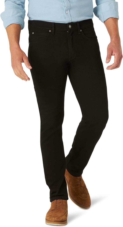 Lee Men's Brushed Back Straight Fit Tapered Leg Jean