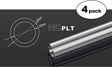 Bitspower None Chamfer PETG Link Tube, 16mm OD, 500mm, Clear, 4-Pack