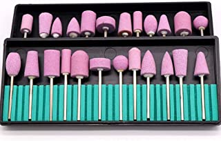 Easy to Use Professional Quality 12 PCS Pink Quartz Nail Nail Grinding Electric Sander Polishing Grinding Head Grinding Ceramic Package Flint Aberdeen