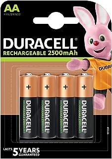 Duracell Pilas Recargables AA 2500 mAh paquete de 4
