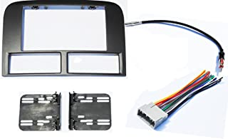 Double Din Aftermarket Stereo Navigation Bezel Radio Install Kit Compatible With Jeep Grand Cherokee WJ 2002-2004