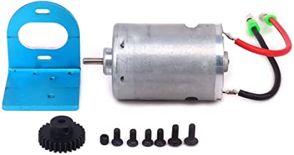 HobbyCrawler 540 Brushed Motor Adjustable Mount W/Fan 27T Gear Upgrade Parts for 1/18 Wltoys A959 A969 A979 K929 RC Car A580048 (Blue)
