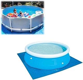 Alfombra protectora de suelo para piscina, impermeable, plegable, fácil de limpiar, apta para diversas piscinas hinchables, 274 * 274CM
