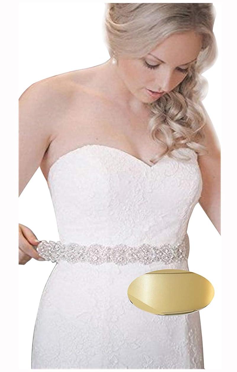 エッセンス期待するグラフQueenDream Bridal Beaded Sash,Wedding Belt Sash,Rhinestone Sash,Beaded Sash- Ivory Sastin Sash by QueenDream
